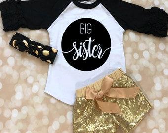 Big Sister Shirt - Big Sister Outfit - Big Sister Baby Outfit - Big Sister Baby Shirt -Bigl Sister Outfit - Sibling Matching Shirt Outfits