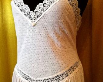 Gorgeous 80s Lace Slip Dress M