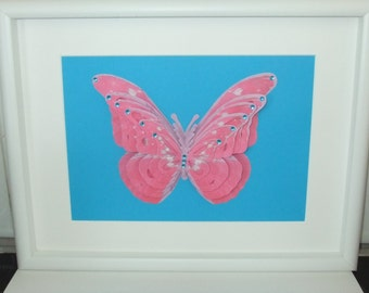 3D butterfly picture, butterfly frame, most popular items, flutterby, best selling items, lepidopterology, trending now, pink 3D butterfly