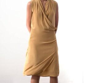Faux Wrap Dress in 100% silk