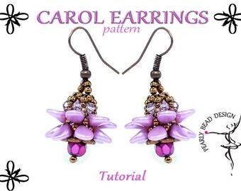 CAROL Earrings pattern tutorial with PIP beads