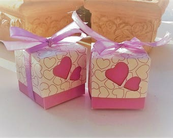Set of 2 small sweets or small jewelry boxes