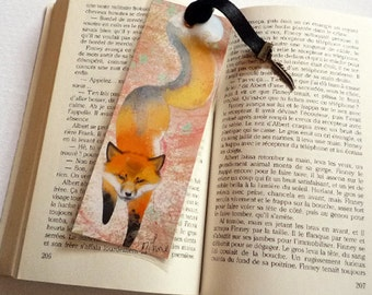 Handmade Fox Spirit - illustrated, laminated, bookmark