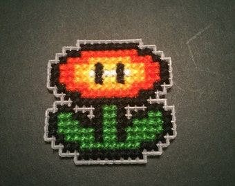 Super Mario Powerup Flower Fire and Ice