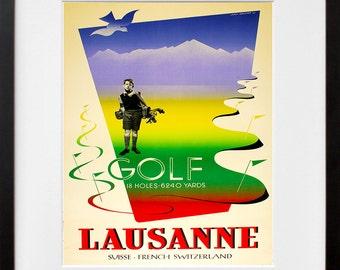 Switzerland Travel Poster Swiss Wall Art Print (ZT317)