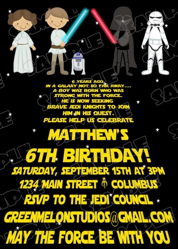 Mesmerizing image regarding printable star wars invitation