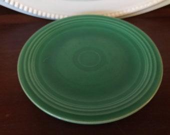 Vintage Original Fiesta Ware Salad Plate Light Green 1940's Fiesta Ware Homer Laughlin Ohio Midcentury - Marked