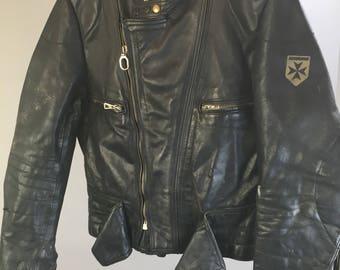 Vintage 80s Harro leather motorcycle jacket