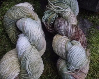 Handpainted sock yarn, fingering yarn, Superwash Merino Tencel Nylon, 100 grams-Lothlorien