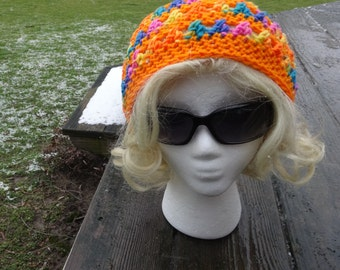 Crochet Handmade Rasta Hat, Hippie Hat, Rasta Cap, Reggae Hat, Dread Cap, Slouchy Beanie, Dread Locks Tam, Jamaica Cap, Winter Hat