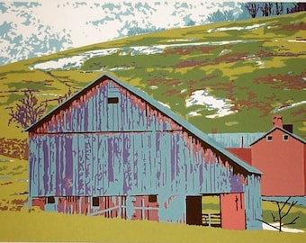 LATE WINTER SNOW original limited edition screenprint in 9 colors