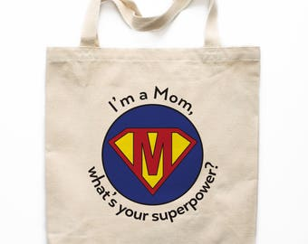 Mother's Day Tote Bag, Canvas Tote Bag, Mother's Day Gift Canvas Bag, Printed Tote Bag, Market Bag, Shopping Bag, Reusable Grocery Bag 0110