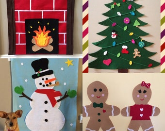 All four felt christmas items  Special Purchase!