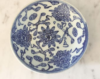 Blue White Plate, Ming Dynasty Chinoiserie Plate, Blue and White, Vintage Asian Plate, Chinese Plate, Blue White Porcelain, Chinese Export
