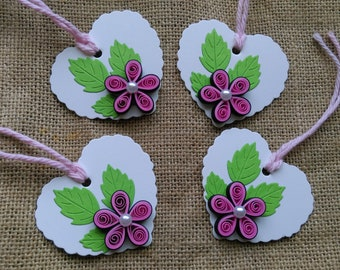 Set Of 4 Quilled Gift Tags