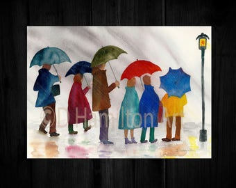 Digital Download of Rainy Day People, Out in the Rain, Charming Rainy Day