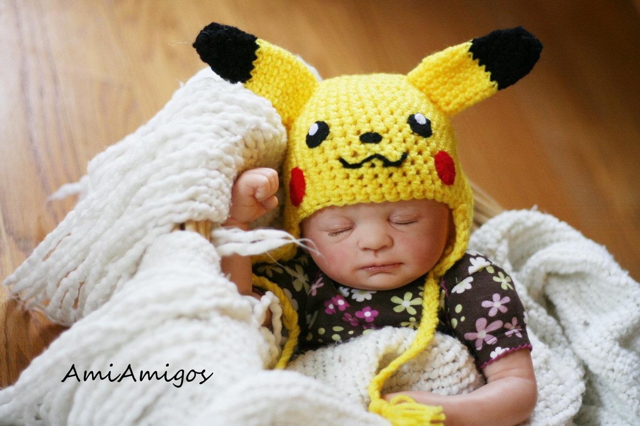 Crochet Pikachu Hat Newborn