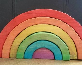 Rainbow wooden