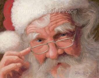 Santa - Claus -  Christmas - portrait-  30 x 40 x 3/4 inch canas print