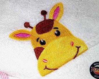 Yellow Giraffe Hooded Baby Towel   Hooded Towel   Baby Towel   Baby Shower Gift   Baby Boy Gift   Infant Baby Towel   Baby Girl Gift