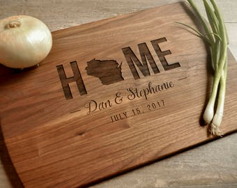 Realtor Gift, Personalized Cutting Board, Custom Cutting Board, Personalized Wedding Gift, Housewarming Gift, Home Cutting Board, Closing
