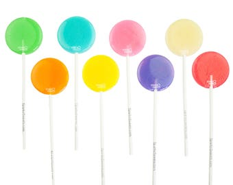 Happy Pops Flavorful Lollipops (24 Pieces) Handcrafted by Sparko Sweets