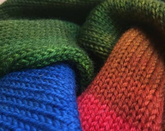 Handpainted Double Knit Sock Blank - Log Cabin by the Lake