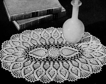 Doily Crochet Pattern, Oval Pineapple Doily Pattern, Thread Crochet Pattern, Summer Crochet Pattern, INSTANT Download Pattern in PDF (1705)
