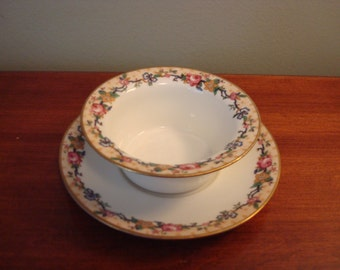 Sale......Set of five gorgeous Limoges custard bowls with under plates for one price