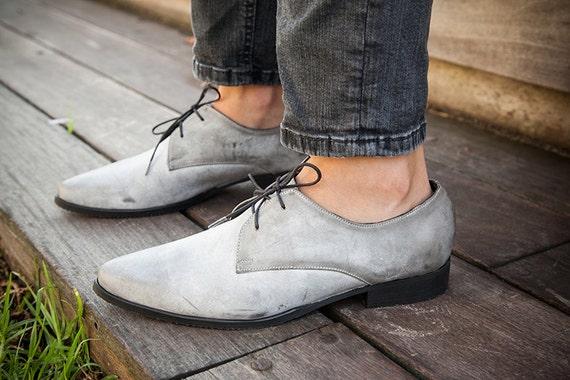 Shoes Shoes Shoes Oxford Up Gray Shoes leather Shoes Shoes Flats Flat Leather Gray Pointy Close Lace Women 6gw0qnn5