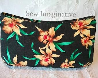 large floral clutch purse