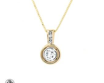 Diamond necklace diamond pendant diamond solitaire necklace diamond necklace two tone diamond pendant diamond pendant bezel set diamond pendant mozeypictures Images