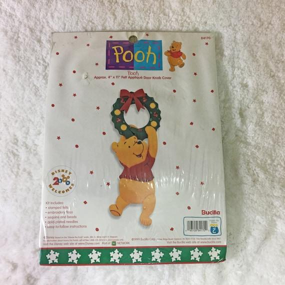 Bucilla Pooh Felt Applique Door Knob Cover Kit / Christmas ...