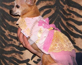 Chihuahua dog dress, handmade