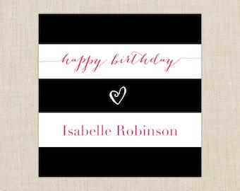 Birthday Gift Labels. set of 25