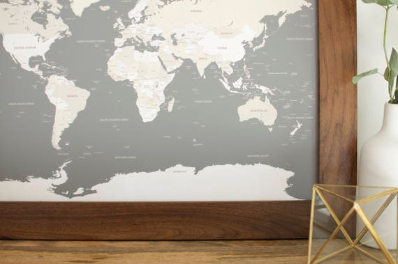 Framed world map push pin travel map small world map world framed world map push pin travel map small world map world travel map anniversary gift map of the world push pin map boyfriend gift gumiabroncs Image collections