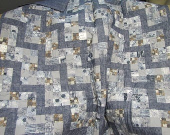 Fun Blue Denim style quilt