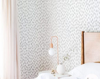Grey Speckle Pattern Wallpaper / Grey pattern Traditional or Removable Wallpaper