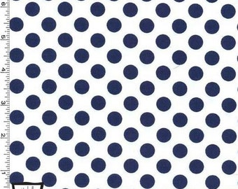Navy Ta Dots on White From Michael Miller