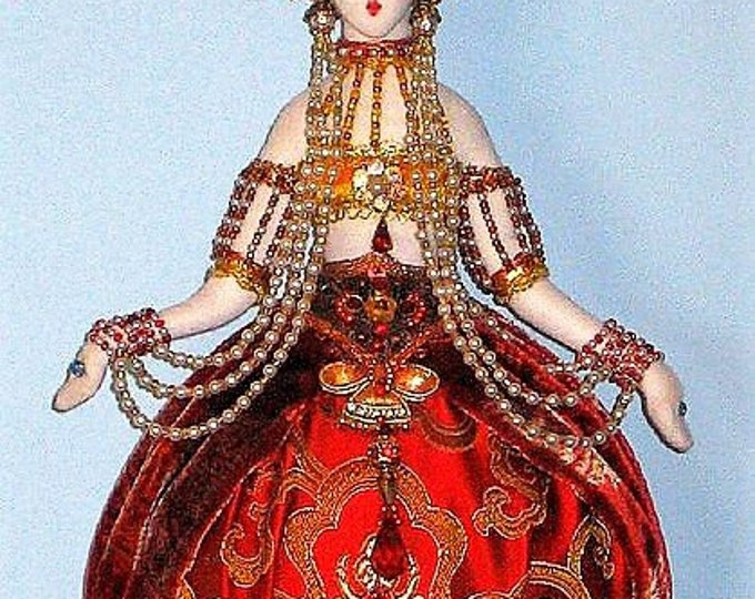 "AB503E -Art Deco Tassel Doll, 13"" Hanging Cloth Doll Pattern - PDF Download"