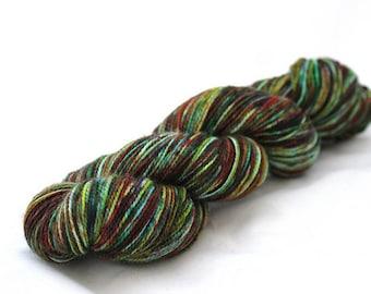 Quantum Dots 1010 --- Dissertation with NYLON --- Hand Dyed Superwash Merino Sock Yarn, Fingering Weight