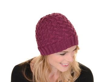 Boyfriend Beanie Knitting Pattern PDF. Hat Knitting Pattern.