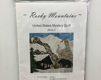 Cantik Batik Rocky Mountains United States Mystery Quilt block 2