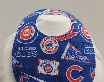 Cubs Cotton / Terry Cloth Bib