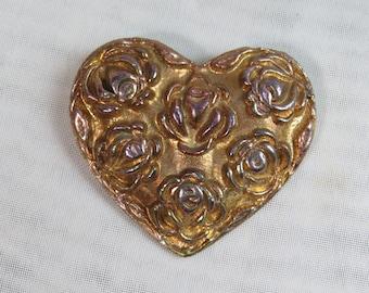 ART NOUVEAU ROSE Brooch Pin