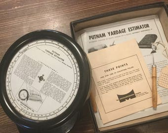 Vintage Putnam Yardage Estimator,Sewing Supplies