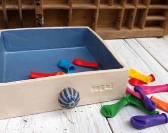 drawer dreams / cassetto dei sogni / cassetto in ceramica fatto a mano / regalo per sposi / sogni nel cassetto / sogni a colori