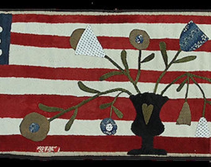 Pattern: It's a Grand Olde Flag wool appliqué runner by Maggie Bonanomi