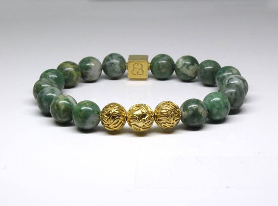 bracelet elegant mediation for white zen women with jade green products bodhi seed