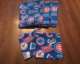 Chicago Cubs Cloth Dinner Napkins, Set of 6